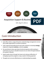 Cask European Acquisition and Business Support Services_Public