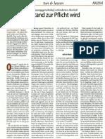 Wenn Wider Stand Zur Pflicht Wird - Ousmane bleibt ! - Augustin 4/2011