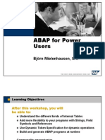 ABAP for Power Users