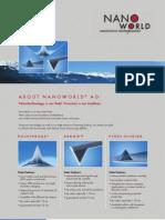 Complete NanoWorld Product Brochure