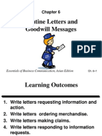 Ch06.1 - Routine Letters and Goodwill Messages