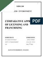 29551614 Franchising vs Licensing