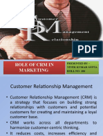 Role of Crm in Marketing
