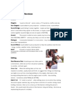 TV Drama Terminology Revision Sheet