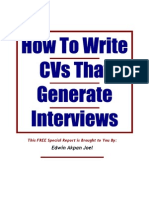 How to Write CVs That Generate Interviews 2