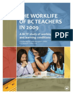 BC Teachers Work Status Report[1]