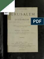 Ulaymi, Sauvaire. Histoire de Jérusalem et d'Hébron depuis Abraham jusqu'à la fin du XVe siècle de J.-C.