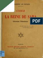 Le Roux. Chez la reine de Saba; chronique Éthiopienne. 1917.