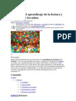 Procesos del aprendizaje de la lectura y escritura en los niños