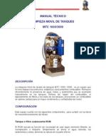 Algae-X - Ficha Tecnica MTC1000 -Limpieza Movil de Tanques