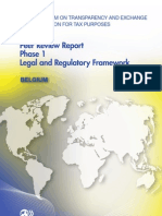 Peer Review Report Phase 1 Legal and Regulatory Framework - Belgium