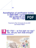 Slides Iso 17021 Be Lac