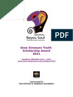 2011 Sean Simmons Youth Scholarship