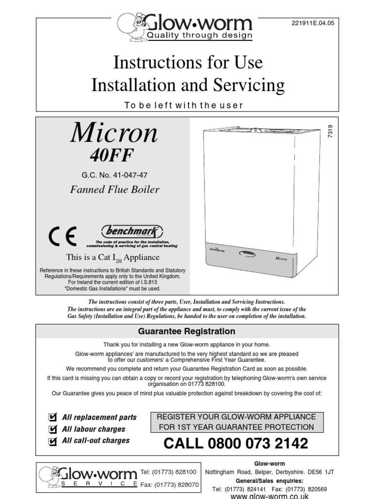 Outstanding Glowworm 30cxi Manual Gallery - Electrical Circuit ...
