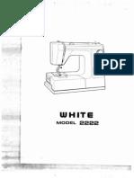 White Sewing Machine - 2222 x