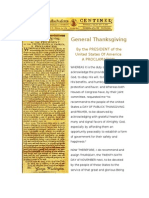 1789 - Thanksgiving Proclamation by G