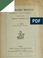 Loth, Chrestomathie Bretonne 1890