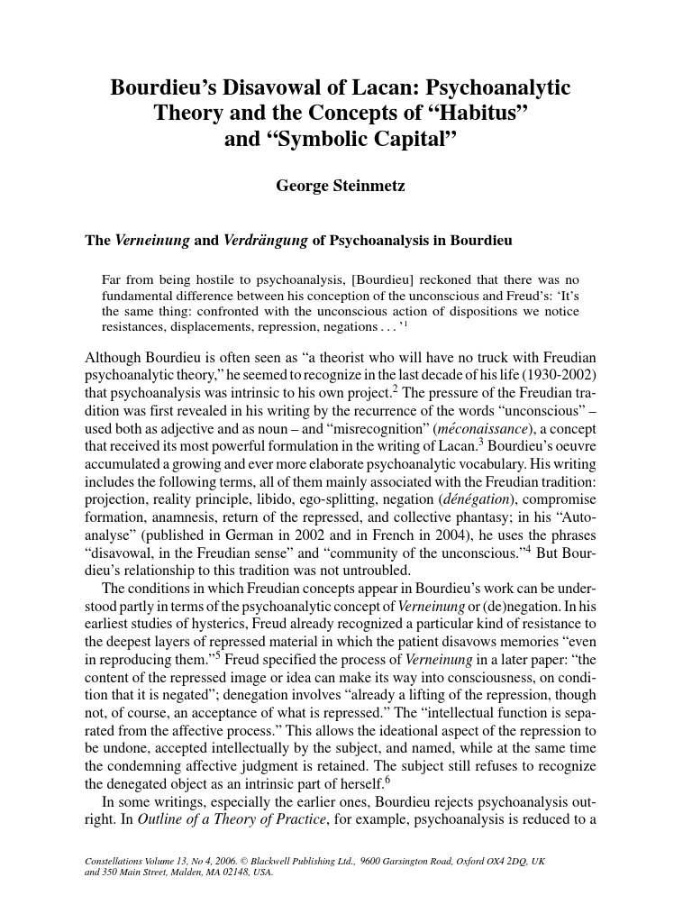 lacan essay My paper comprises several considerations on jacques lacan's  psychoanalytical theory, aiming at underlining its alleged structuralistic frame,  and also its.