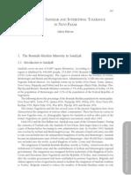 Bosniaks in Sandzak and Inter Ethnic Tolerance
