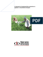 Future Fertiliser Demand for Sustaining Rice Production in Bangladesh - A Quantitative Analysis