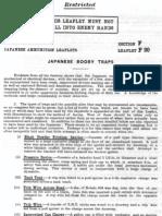 Japanese Ammunition Leaflets Section F - Japanese Mines & Booby Traps