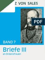 Briefe III - Franz von Sales