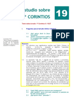 1º Corintios. Estudio 19