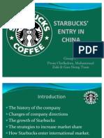 STARBUCKS' ENTRY IN CHINA (PRESENTATION SLIDE)