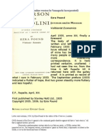 Ezra Pound - Jefferson and-Or Mussolini - Volitionist Economics