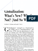 Keohane and Nye Globalization