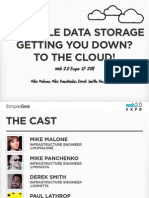 Scalable Data Storage Getting You Down? To The Cloud!