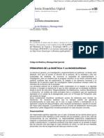 Principios de La Bioetica y Bioseguridad