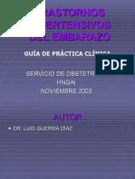 Trans Tor No Hipertensivos Del Embarazo, Guia Clnica