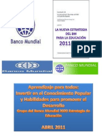ESTRATEGIA EDUCATIVA MUNDIAL (2011-2020)