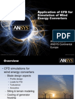 ANSYS-CFD for Simulation of Wind Energy Converters