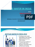 Bottled Water in India