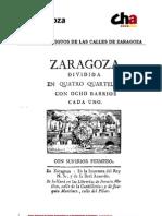 Nomenclator Antiguo de Zaragoza - CHA Ayto Zaragoza
