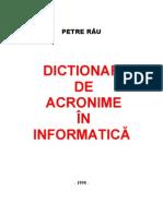 Dictionar de Acronime in a