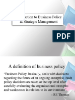 Introduction to Business Policy