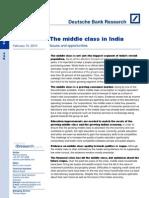Indian Middle Class- Deutche Bank Report