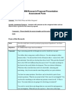 Dinesh Sharma Research Proposal Presentation Feedback