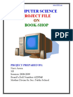 Book Shop Project File