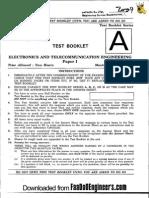 Objective Electronics&Telecom i - IES 2009 Question Paper