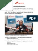 AirIndia Embarks on a Turn Around PlanI
