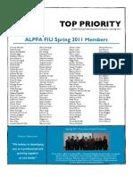 Top Priority ALPFA FIU Spr2011