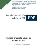 Atenção Integral à Saúde do Adulto no PSF