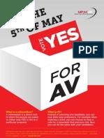 MPACUK VOTE YES FOR AV Leaflet
