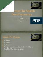 Al-Quran Dan Sejarah Pemeliharaannya
