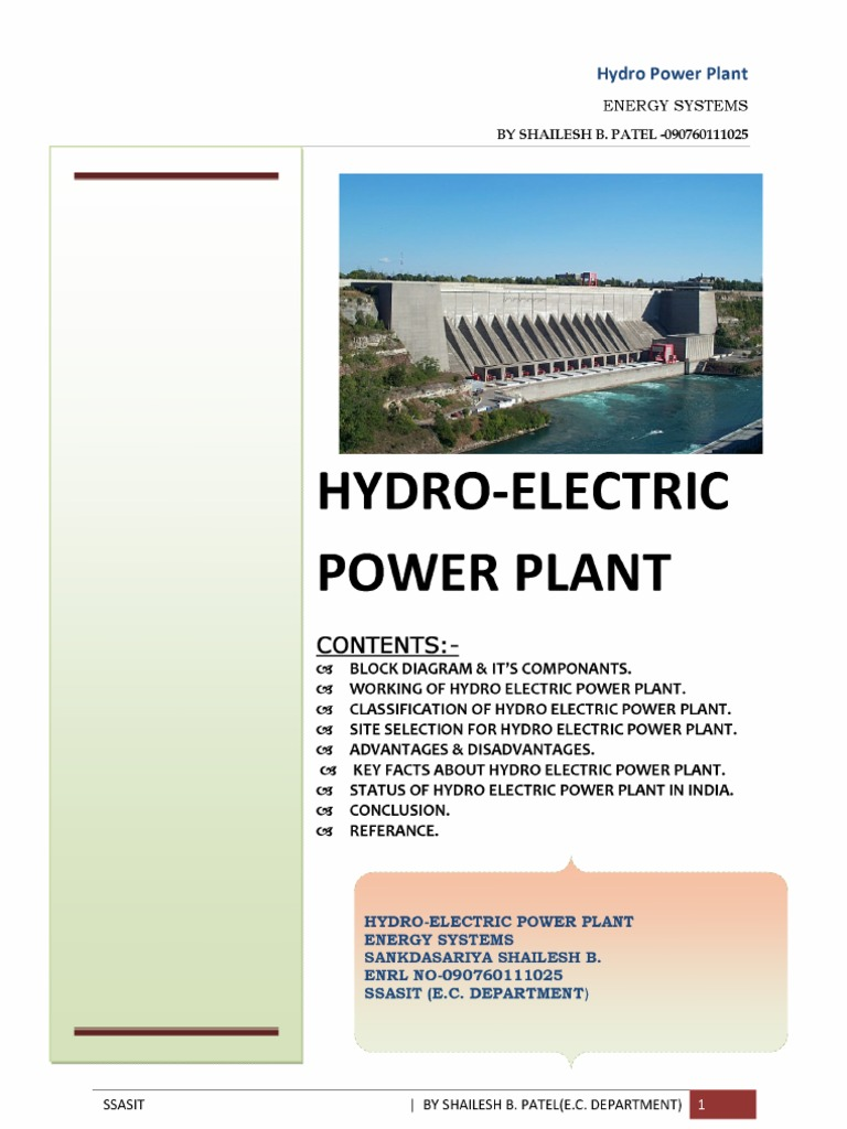 Hydro Power Plant Block Diagram Wiring Library Hydroelectricity Station 1538476501v1