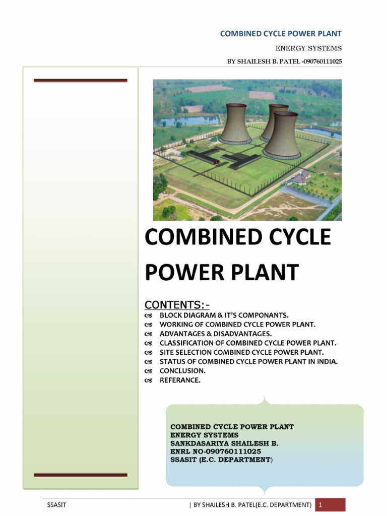 Combined Cycle Gas Turbine. on